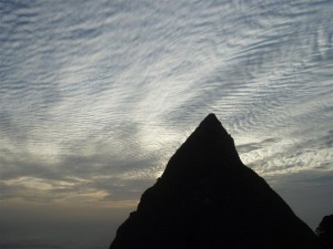 Piton silhouette photo - St Lucia March 2012